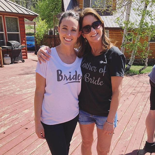 Spent the weekend with this beautiful bride, who also happens to be my niece @jules11347 and her mom, my beautiful sister @bonnie.jordan3574 ❤️ How cute are their shirts?