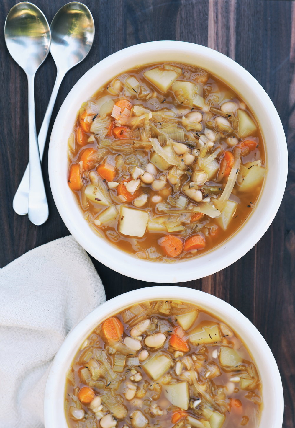Sauerkraut Potato & White Bean Soup
