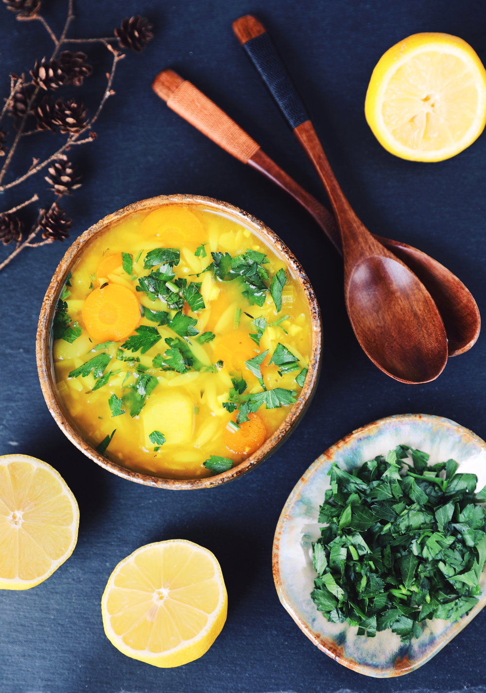 Lemon Potato Orzo Soup