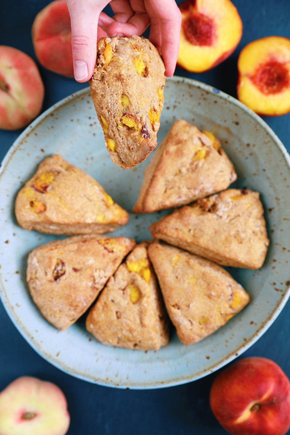 Vanilla Peach Coconut Butter Scones
