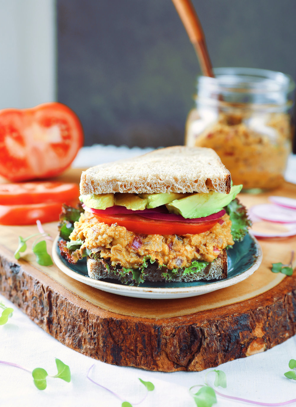 This chickpea tuna is also great on sandwiches!
