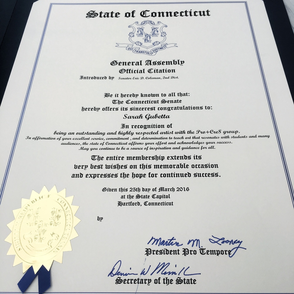 Official Citation from the Connecticut General Assembly