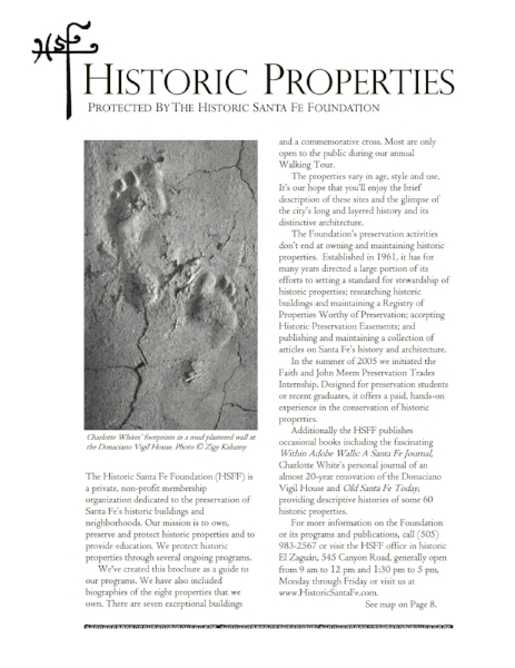 Historic Properties Protected by HSFF, circa 2006