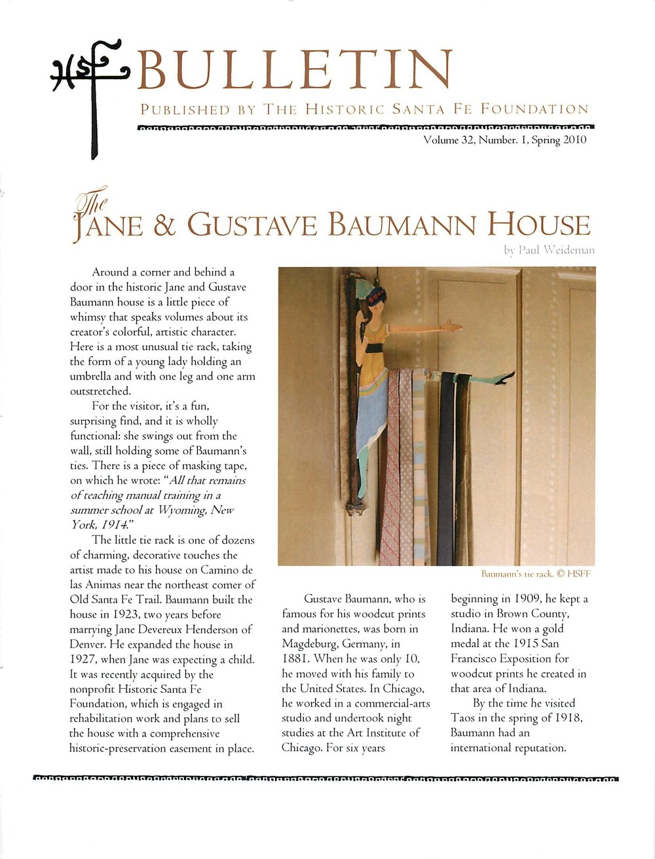 2010 HSFF Bulletin Vol.32 No.1 Cover