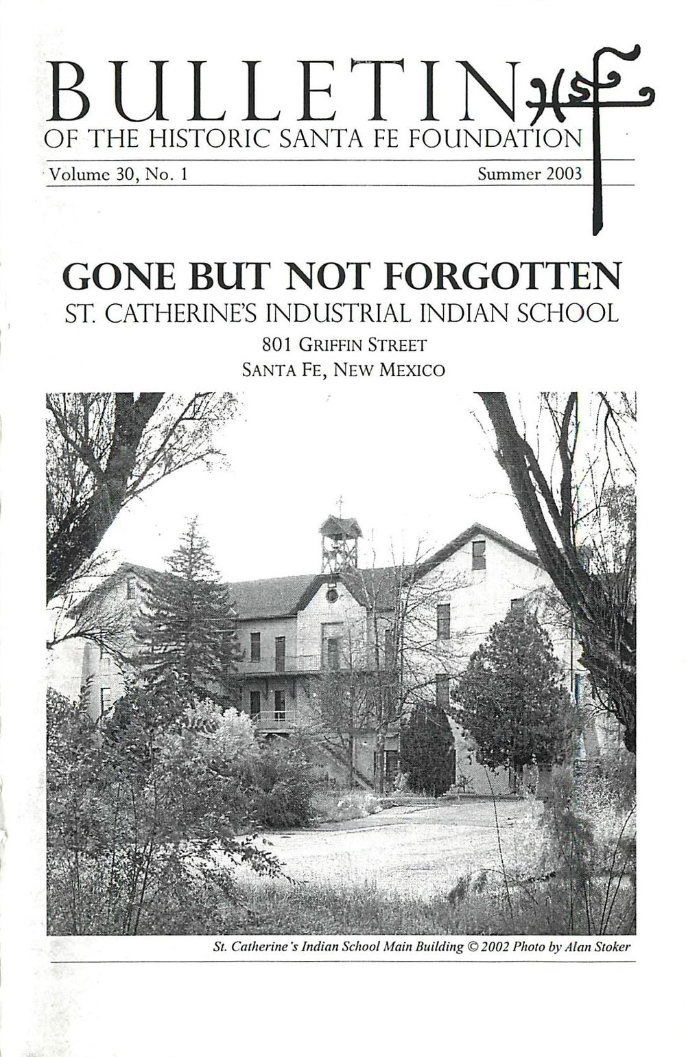 2003 HSFF Bulletin Vol.30 No.1 Cover