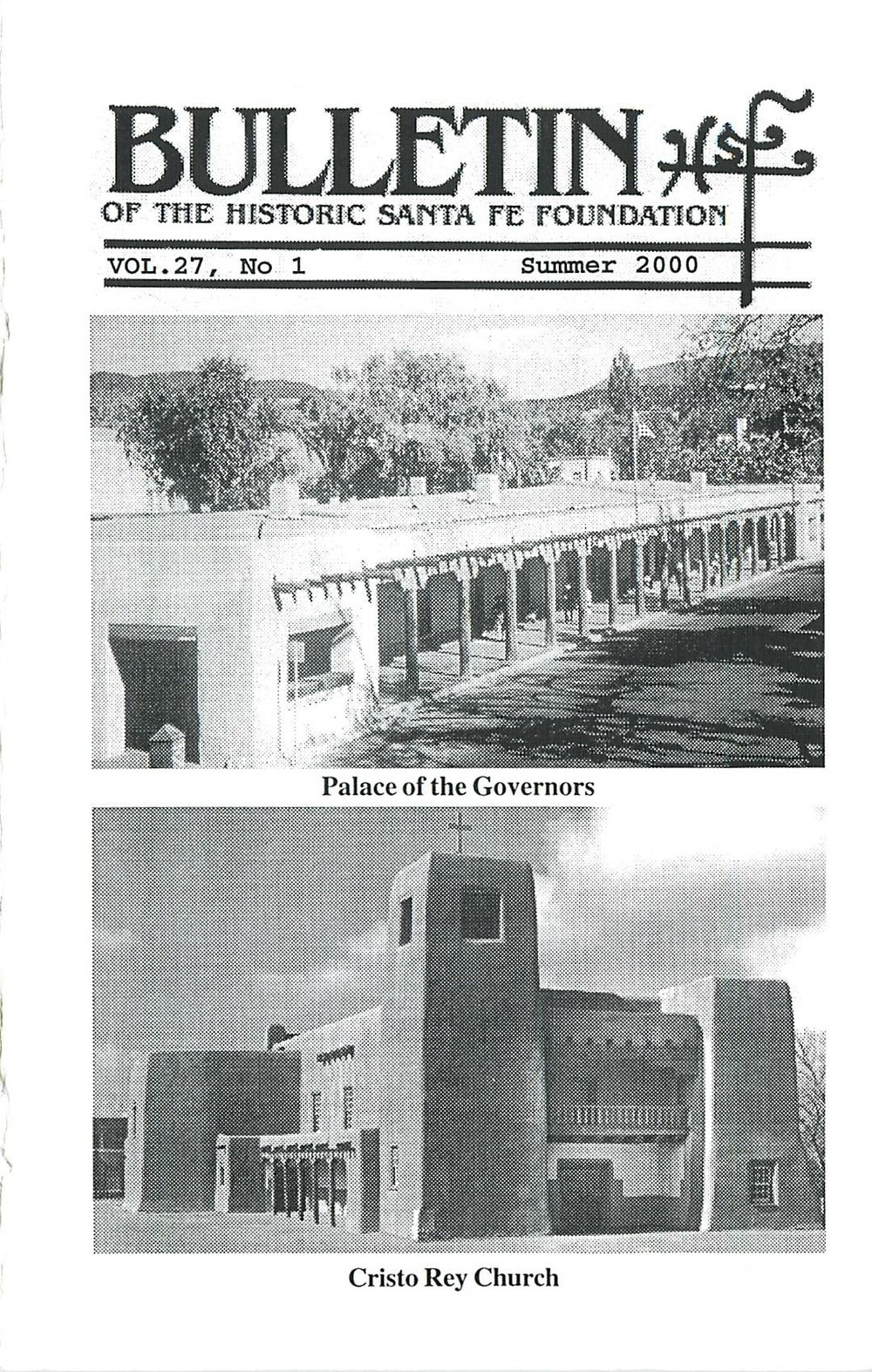 2000 HSFF Bulletin Vol.27 No.1 Cover