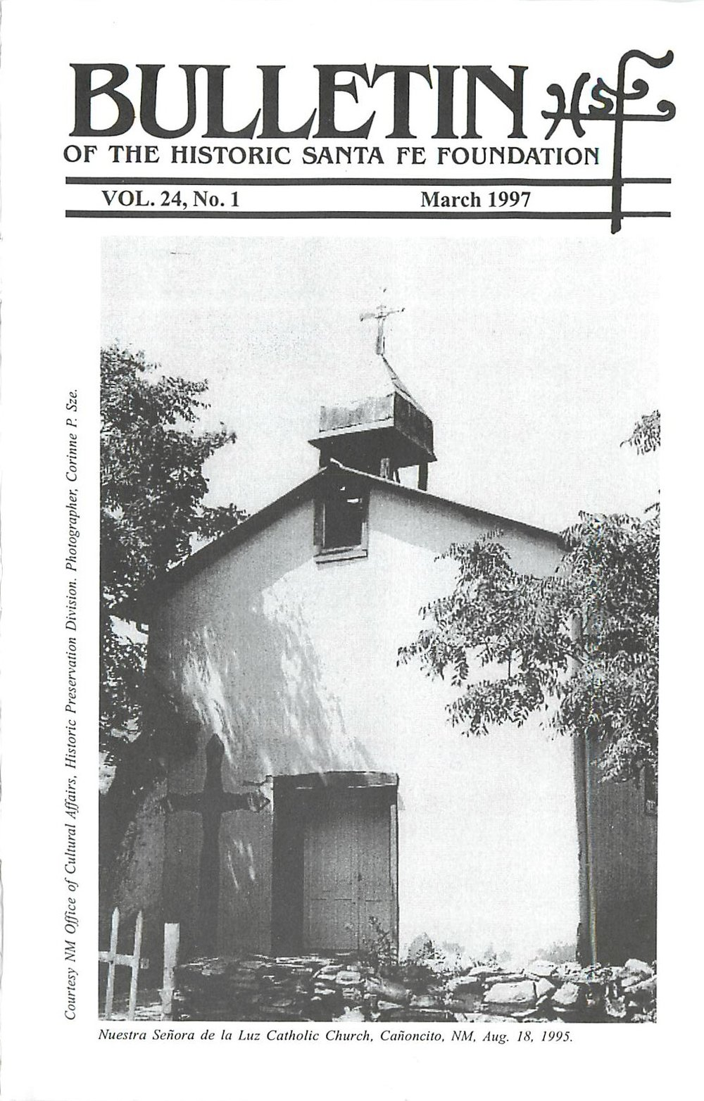 1997 HSFF Bulletin Vol.24 No.1 Cover
