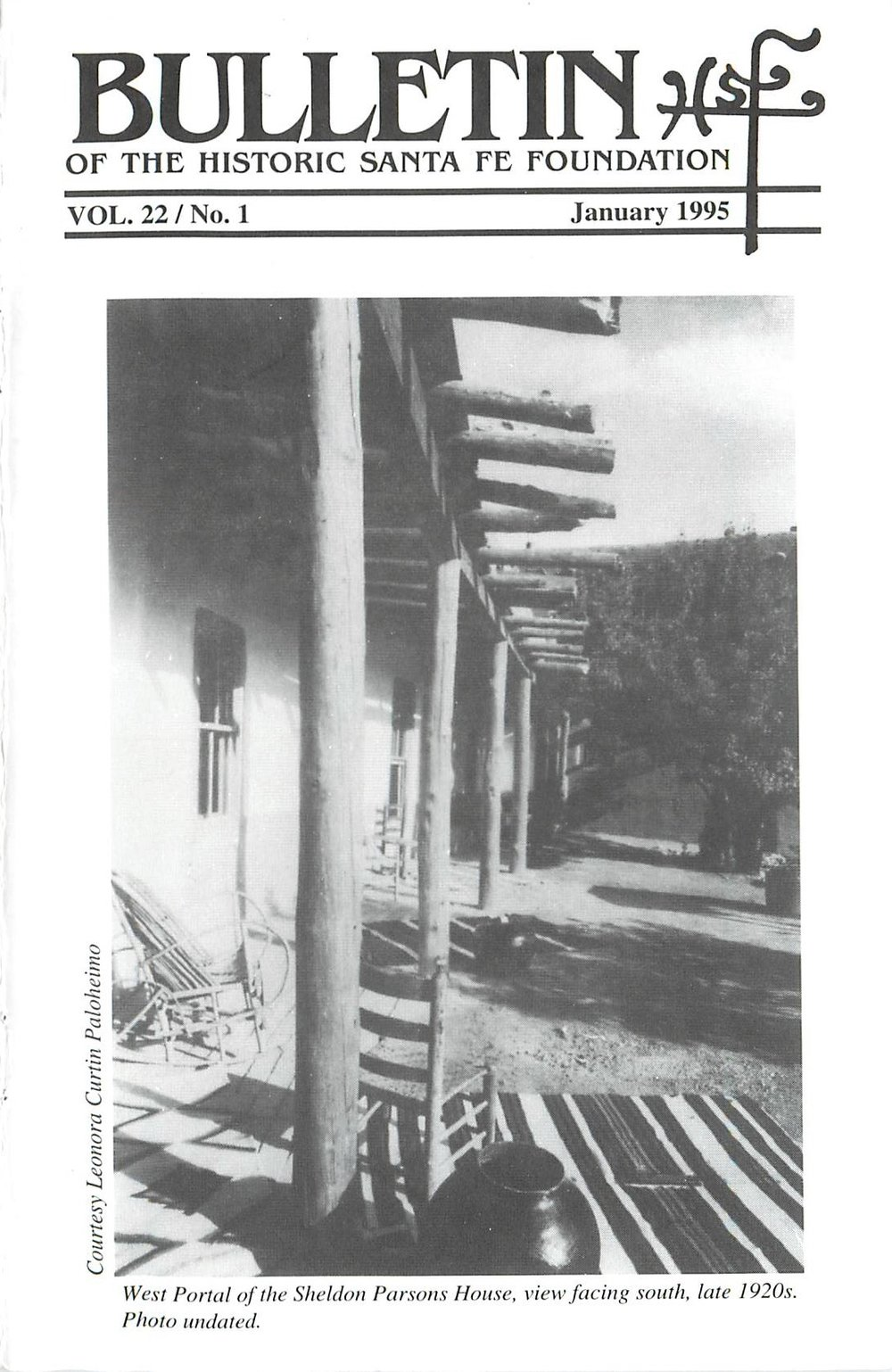 1995 HSFF Bulletin Vol.22 No.1 Cover