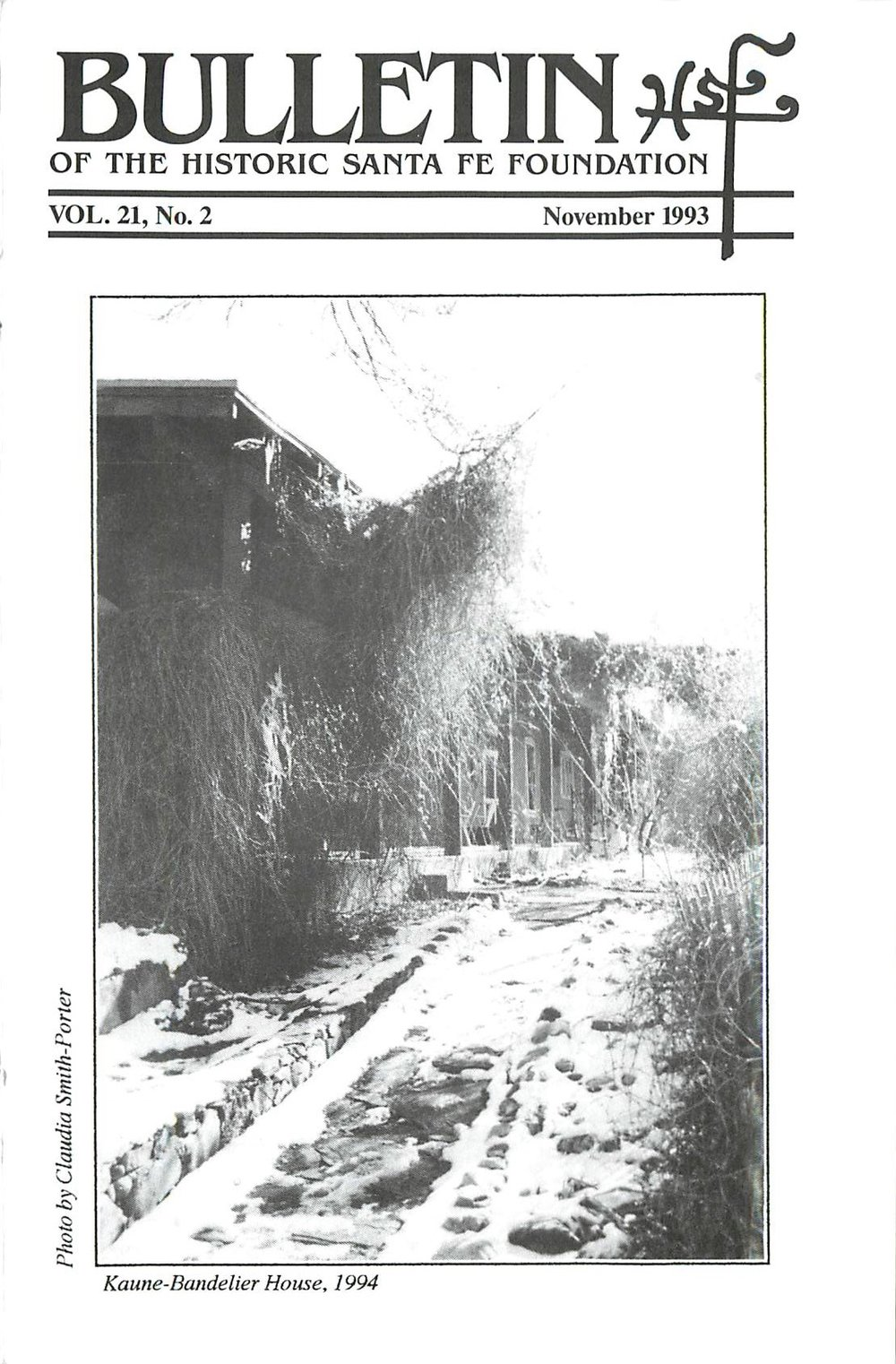 1993 HSFF Bulletin Vol.21 No.2 Cover