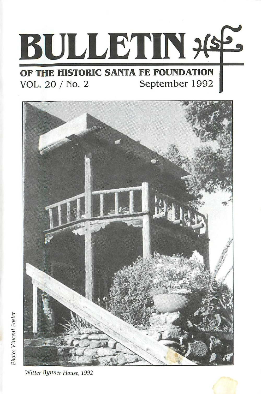 1992 HSFF Bulletin Vol.20 No.2 Cover