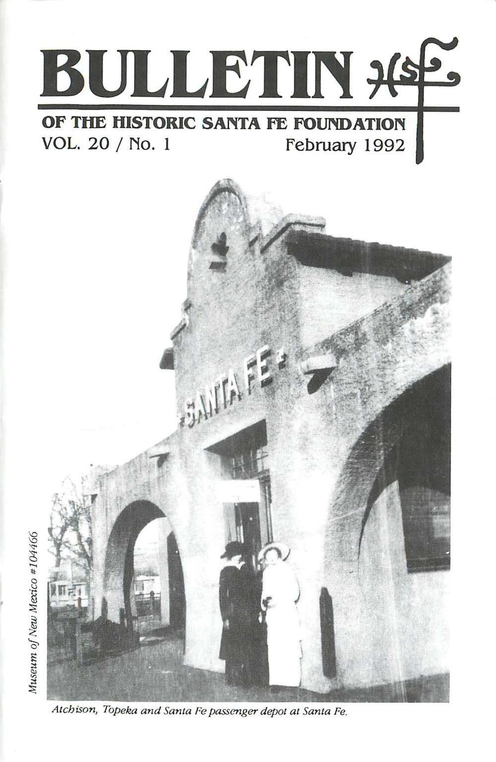 1992 HSFF Bulletin Vol.20 No.1 Cover