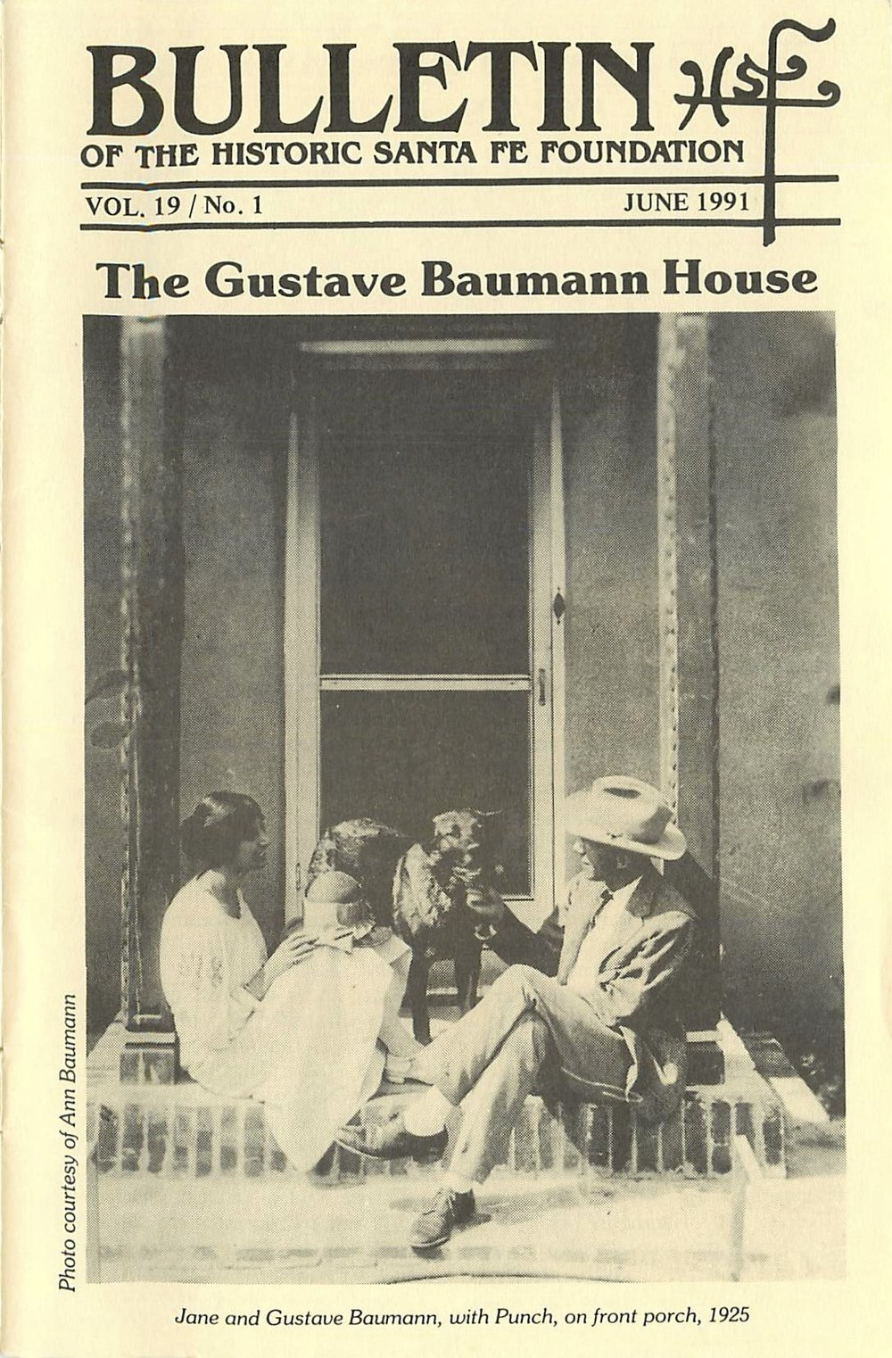 1991 HSFF Bulletin Vol.19 No.1 Cover