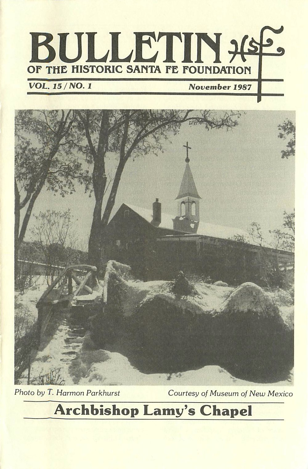 1987 HSFF Bulletin Vol.15 No.1 Cover