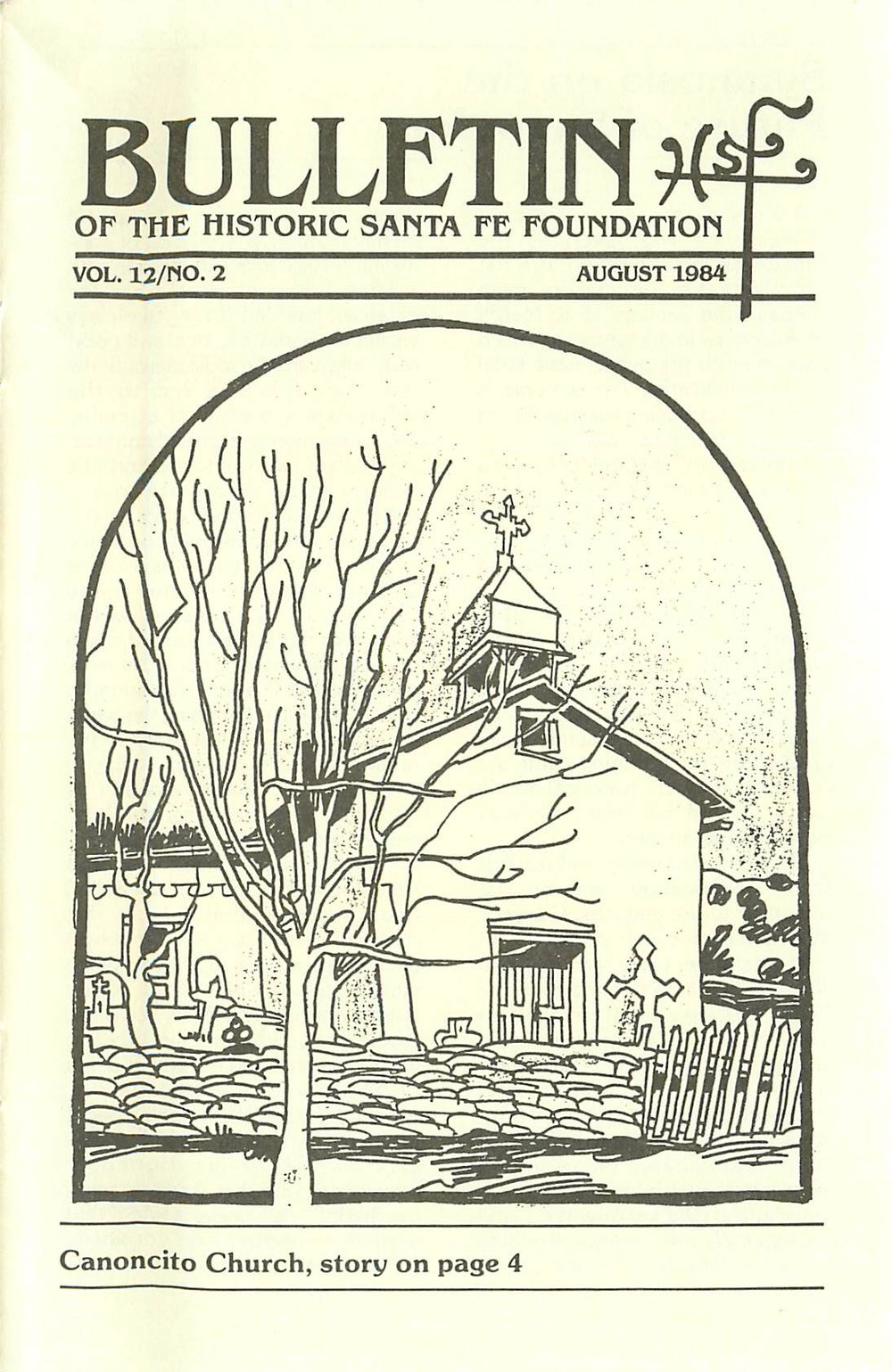 1984 HSFF Bulletin Vol.12 No.2 Cover