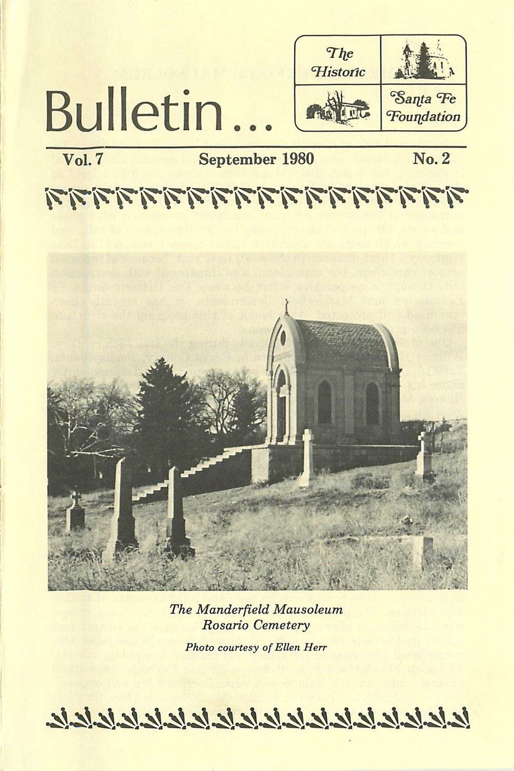 1980 HSFF Bulletin Vol.7 No.2 Cover