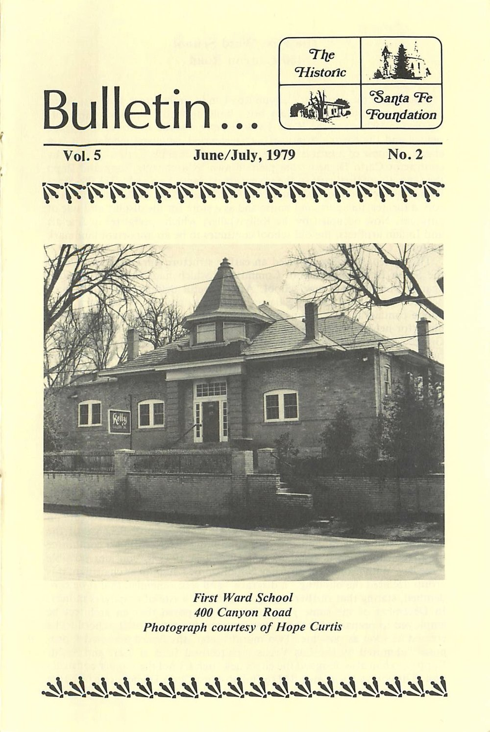 1979 HSFF Bulletin Vol.5 No.2 Cover