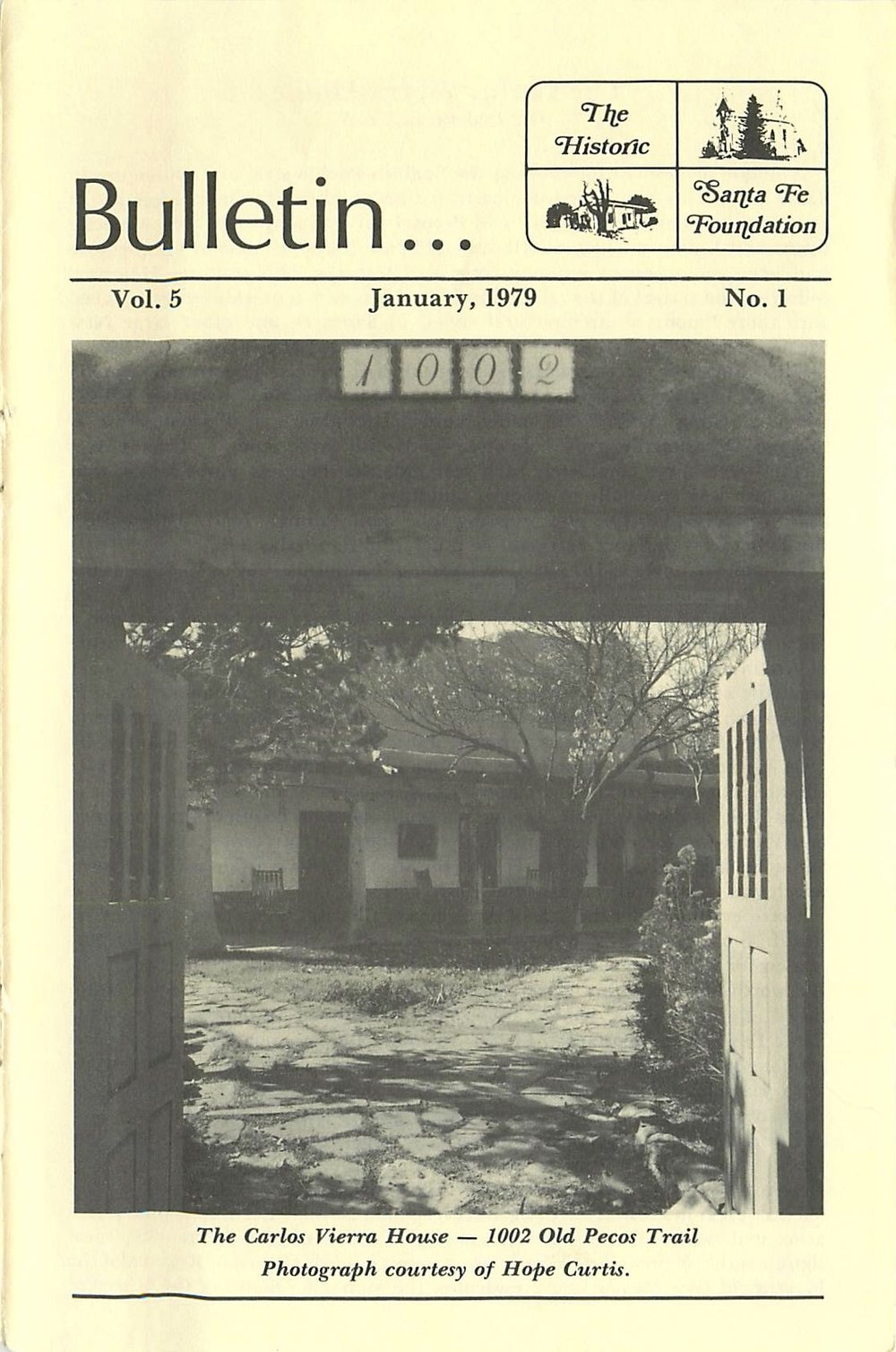 1979 HSFF Bulletin Vol.5 No.1 Cover