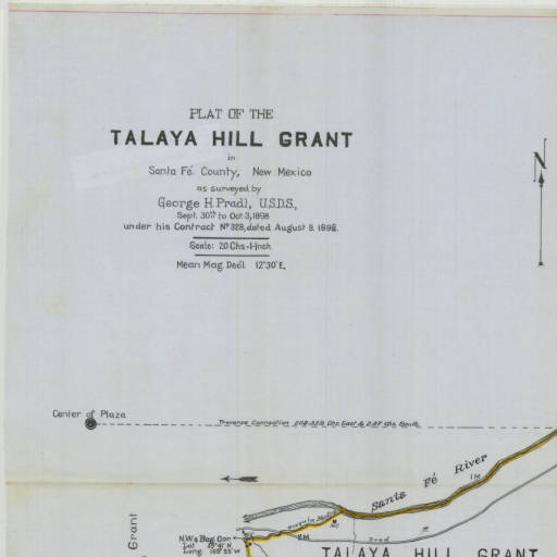 1898 Plat of the Talya Hill Grant
