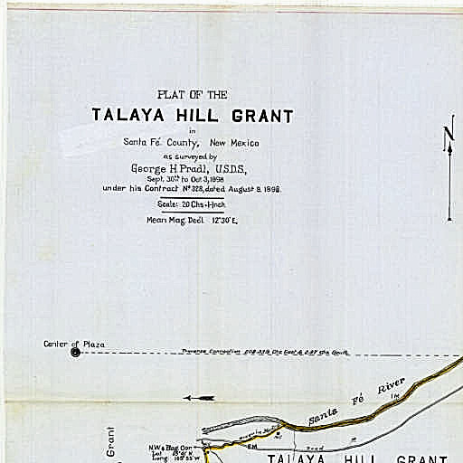 1898 Tayala Hill Grant Map (incomplete) from Centr for SW Research