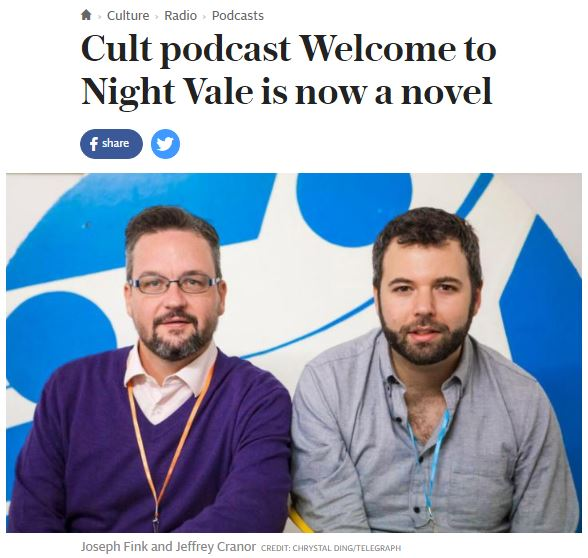 Cult podcast Welcome to Nightvale is now a novel - The Telegraph Culture - Oct 2015