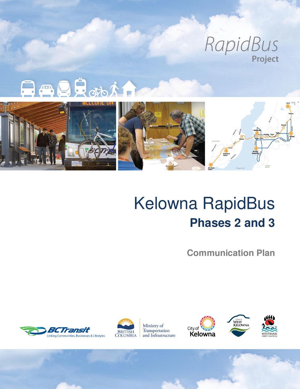 BC Transit: Kelowna RapidBus Communications Plan