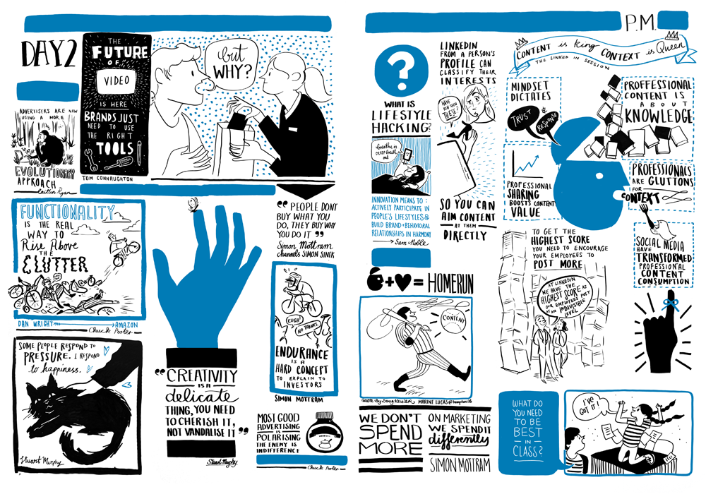 Scribing for LinkedIn at Advertising Week Europe | Scriberia