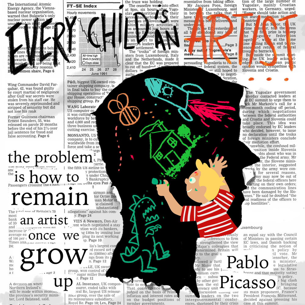 Scriberia Hardworking pic every child picasso