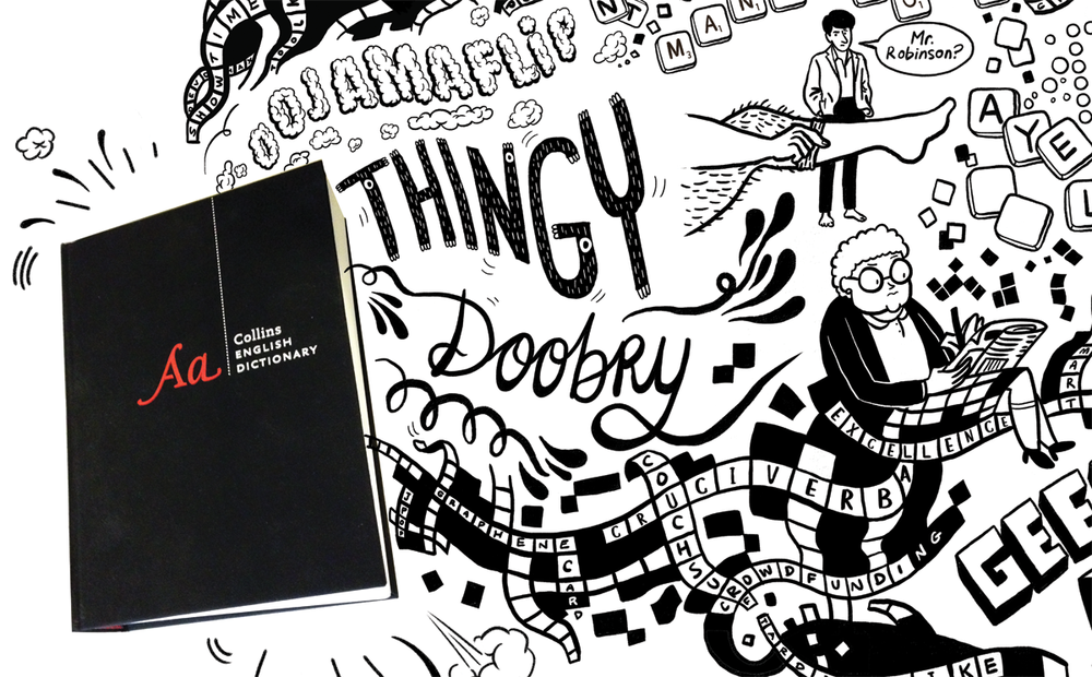 An animation celebrating the new of the Collins' Dictionary | Scriberia