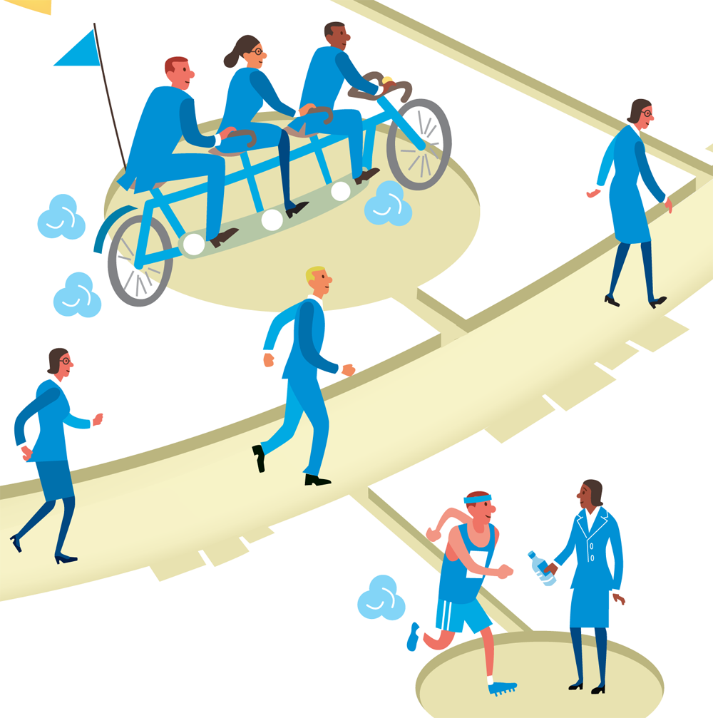 Rich picture illustrations for Deloitte's Graduate Pathway | Scriberia