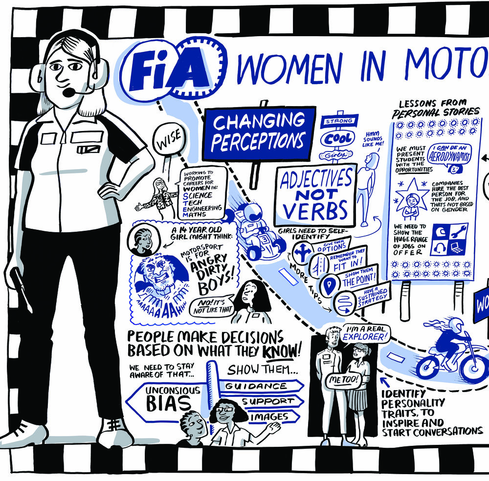 Scribing from the Women in Motorsport event, Lisbon | Scriberia