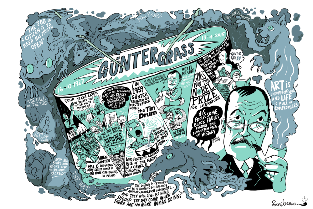 scriberia scribing Gunter Grass