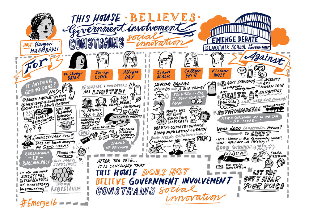 Sketchnotes from the 2016 Emerge Debate | Scriberia