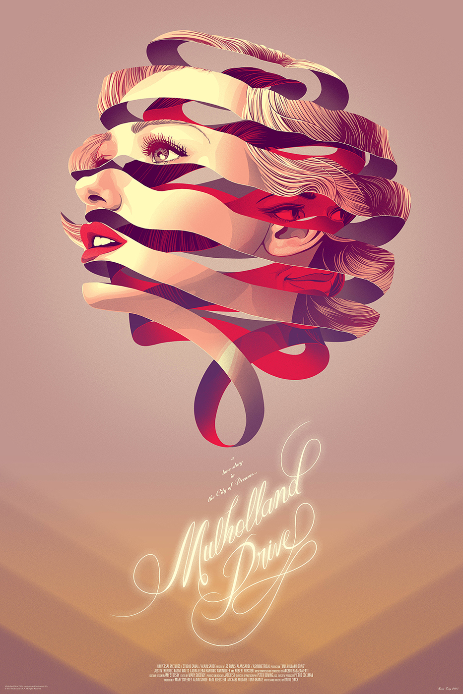 Scriberia Alternative Film Posters Tong Mulholland Drive