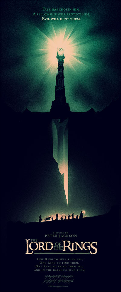 Scriberia Alternative Film Posters Moss Fellowship of the Rings