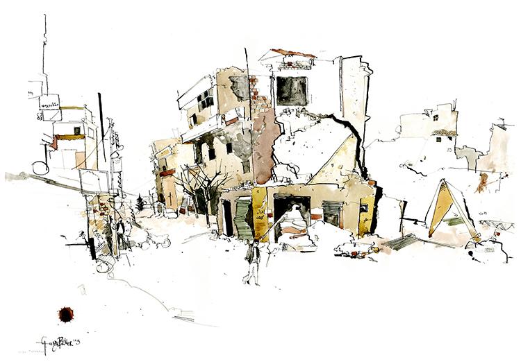 Scriberia Reportage Illustrators George Butler
