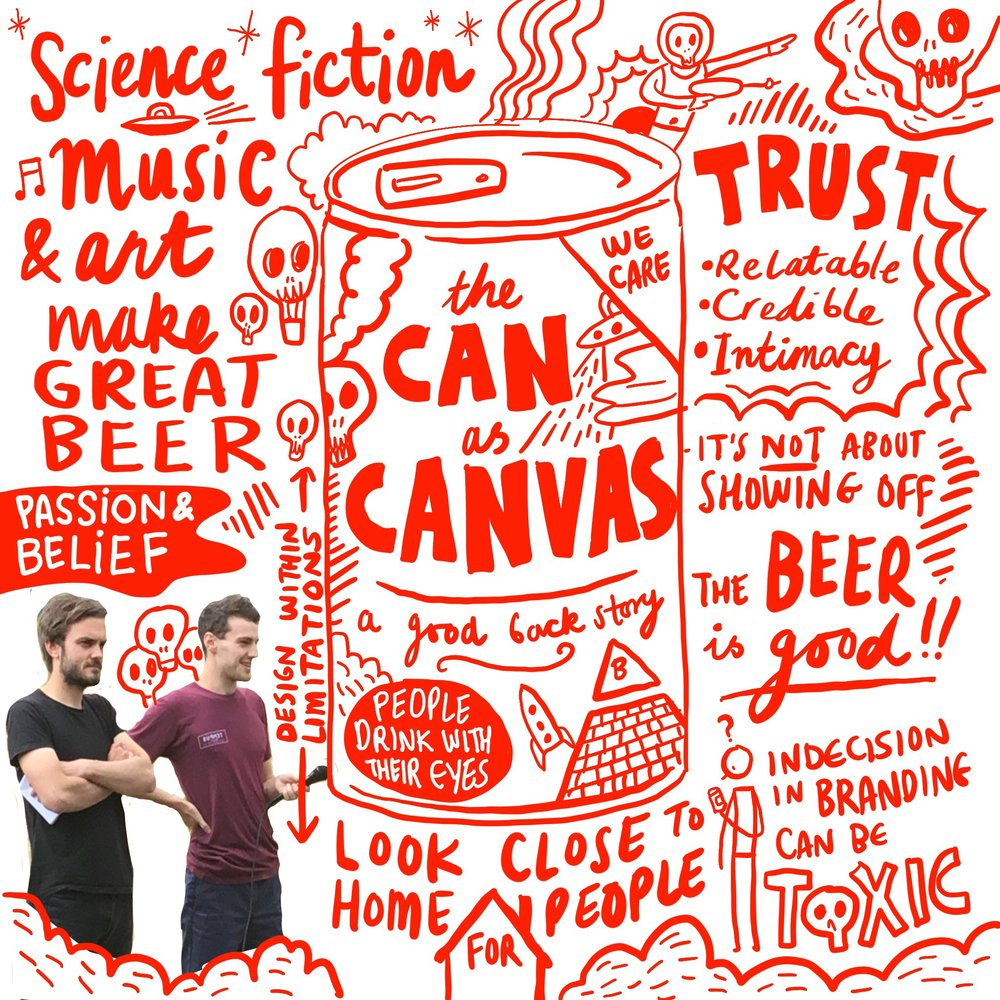 Scriberia OffGrid Sessions Nick Dwyer Beavertown Beer Sketchnotes Sketchnoting