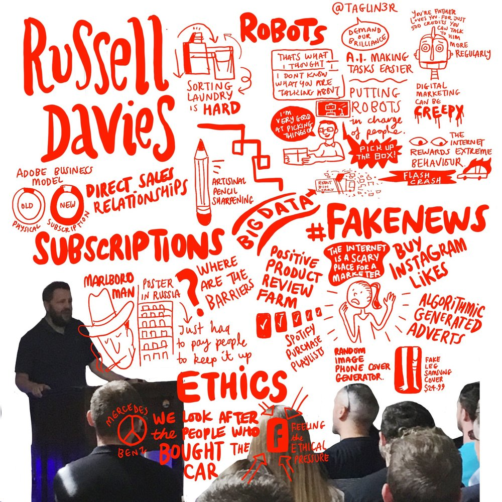 Scriberia OffGrid Sessions Russell Davies Sketchnotes Sketchnoting