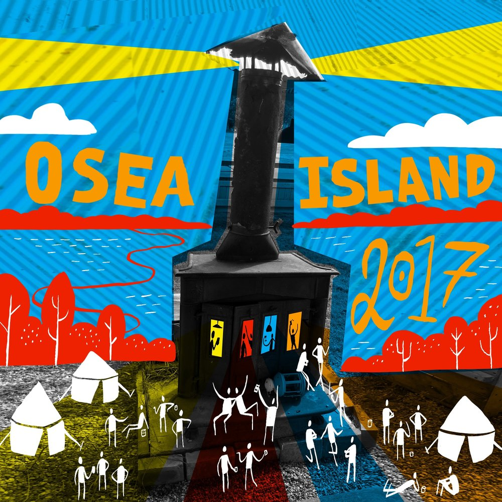 Scriberia OffGrid Sessions 2017 Illustration Postcard Osea Island