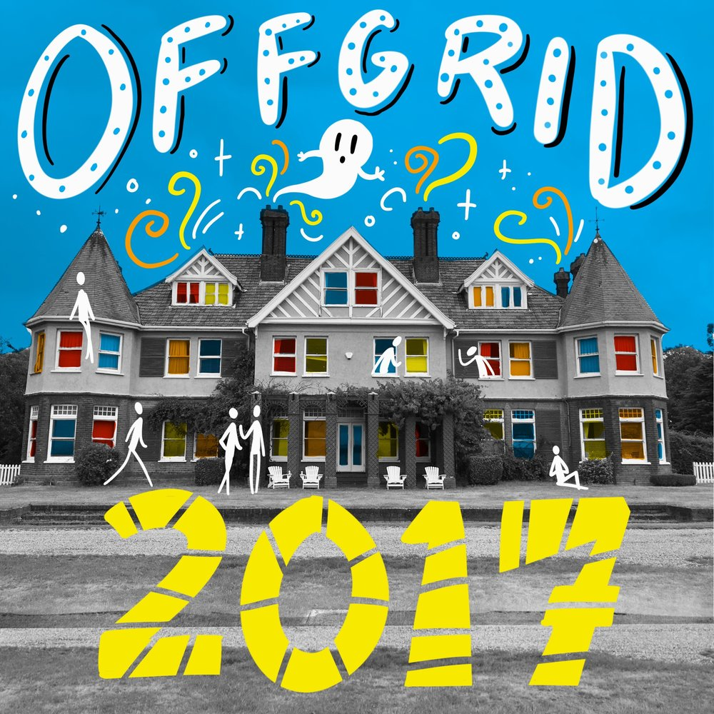 Scriberia OffGrid Sessions 2017 Osea Island Illustration Postcard