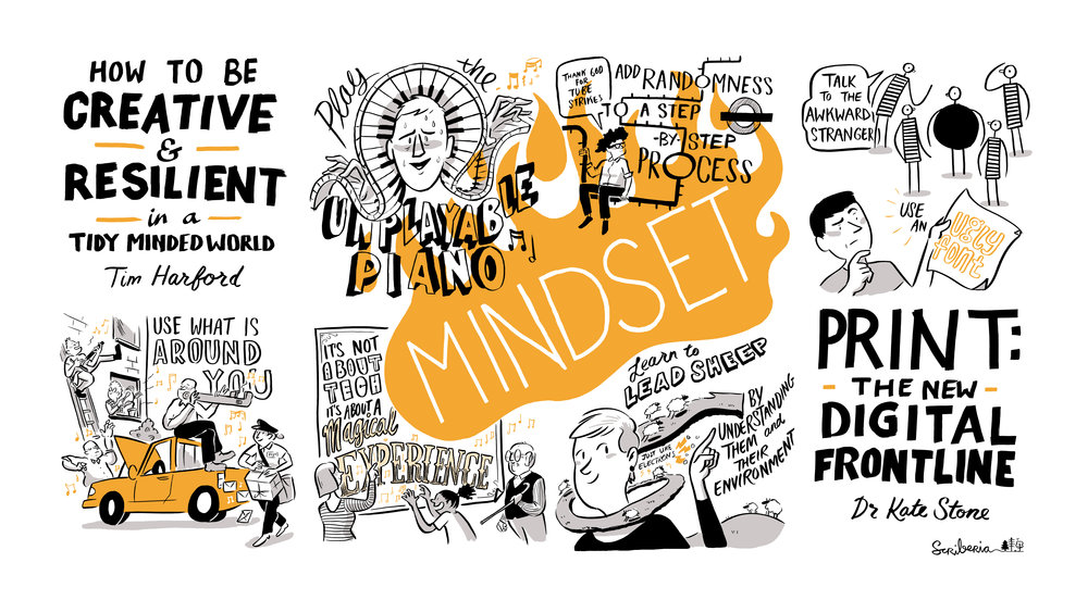Scriberia OffGrid Sessions Scribing Tim Harford Dr Kate Stone