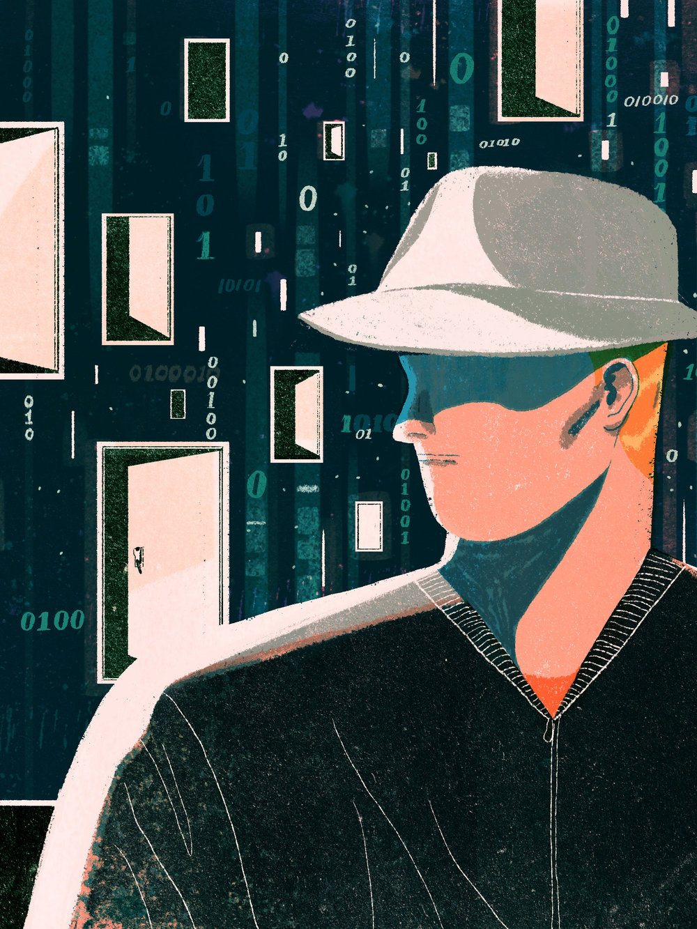 An image from WIRED's The Hotel Room Hacker