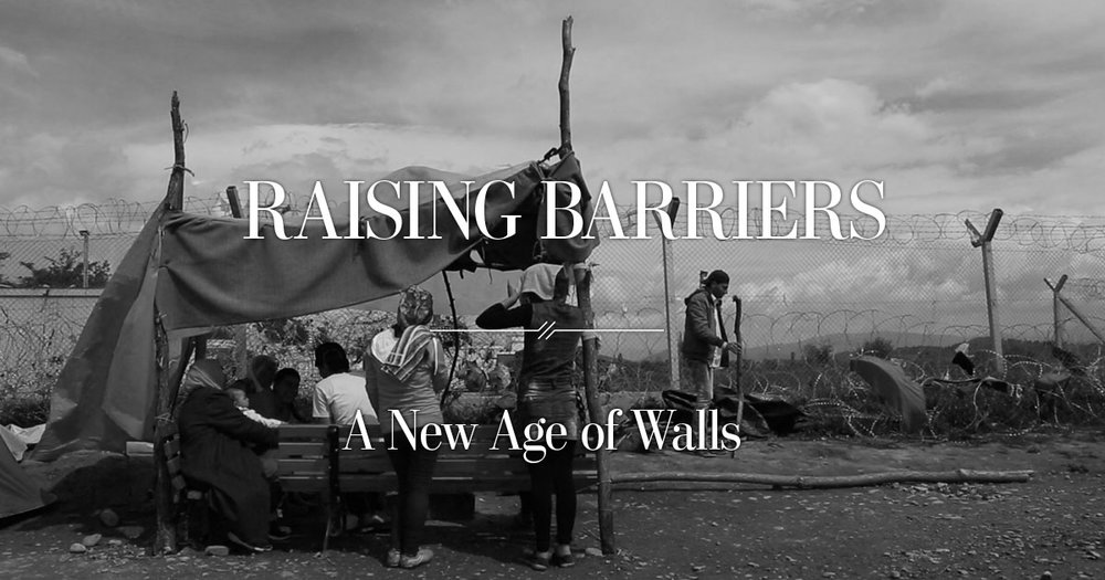 The title image from Washington Post's Raising Barriers: A New Age of Walls immersive feature
