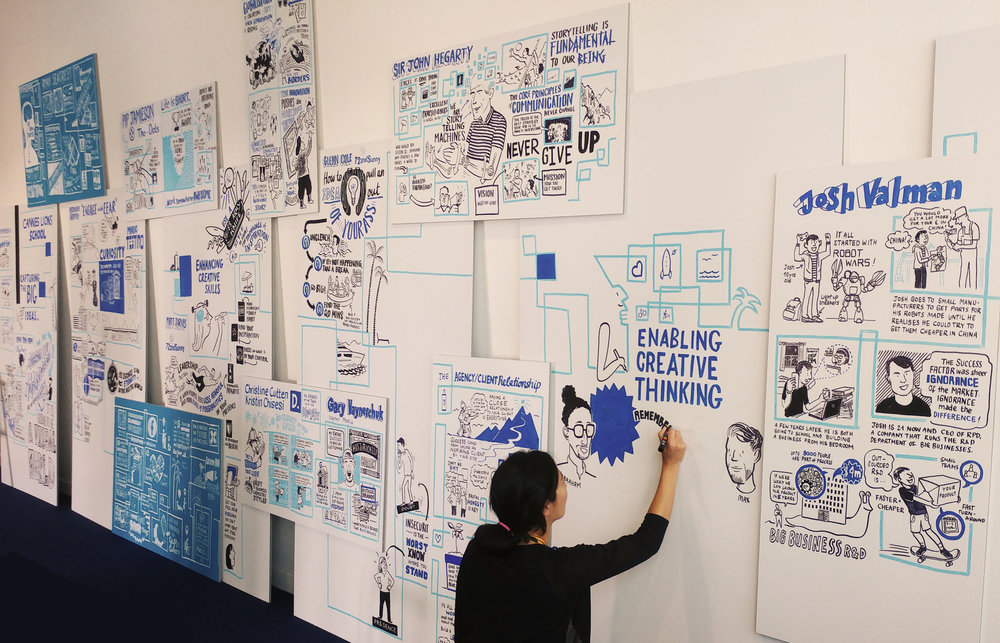 Scriberia scribing Cannes Lions Festival of Creativity Night School Illustration