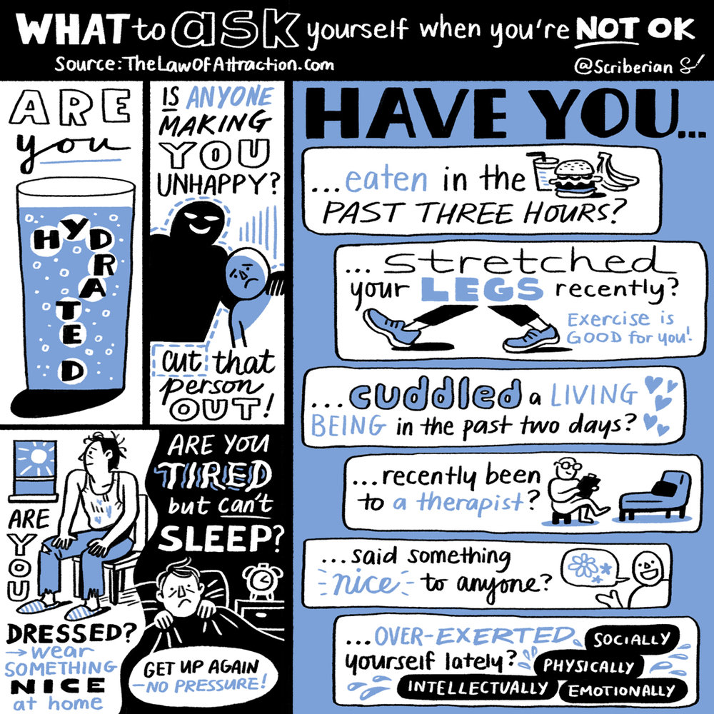 You're not ok? Essential questions to ask yourself before giving up. Source:  The Law of Attraction