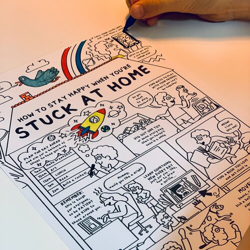 Stuck at home: The colour-in sketchnote