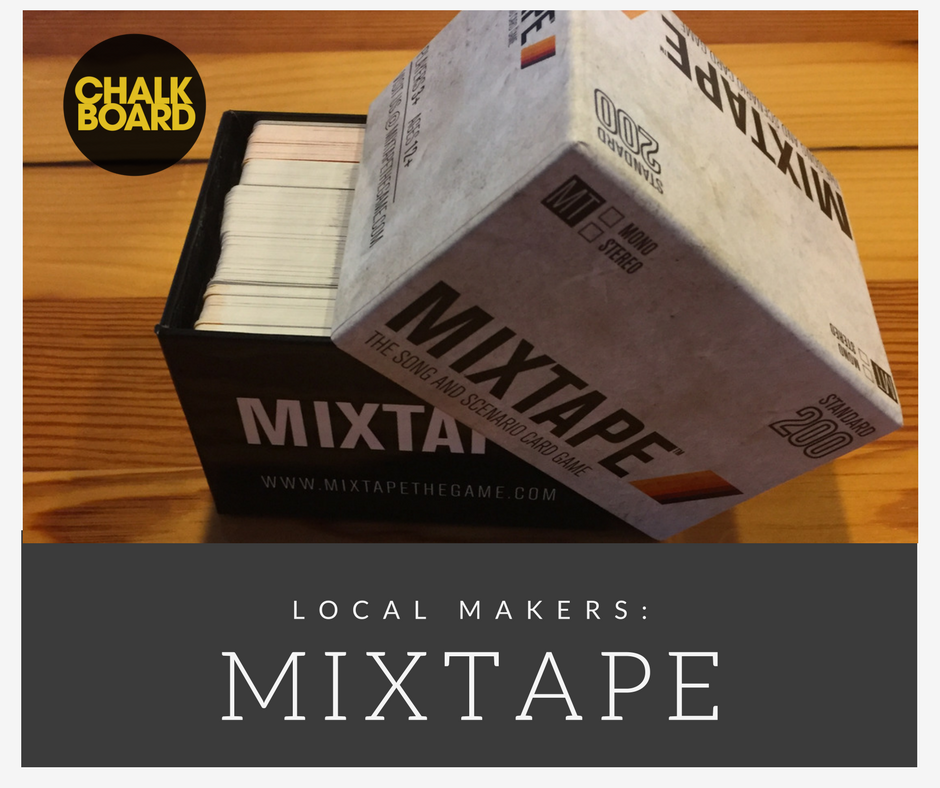 Here's a photo of the card deck that comes with Mixtape: The Song and Scenario Card Game