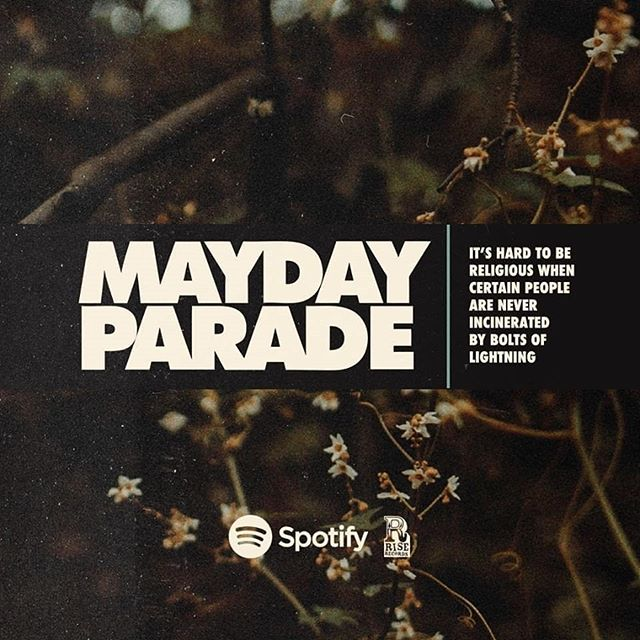 The track of the week this week goes to the brilliant new @maydayparadeband single #itshardtobereligiouswhencertainpeopleareneverincineratedbyboltsoflightning and its a pop rock powerhouse of a track! Link in bio!! #newmusic2018 #newmusic #newmusicalert #trackoftheday #trackoftheweek #trackoftheweektuesday #trackofthenight #trackoftheweekend #poprock #poprocks #poprockmusic #poprockband #maydayparade #alternative #alternativemusic #newmusicalert🚨 #musicoftheday #music #musicofinstagram #musiclovers #musicislife #musiclife #echionmusic