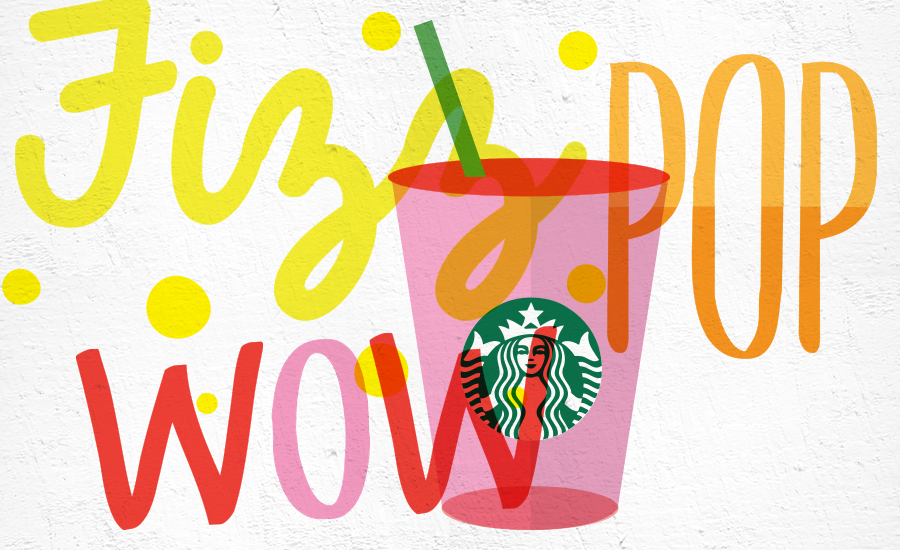 Party. Ever. Cold Brew Frappuccino Bodoni Bedlam Red Cup Illustration  Starbucks Summer The Lot Poster Series Pacsun