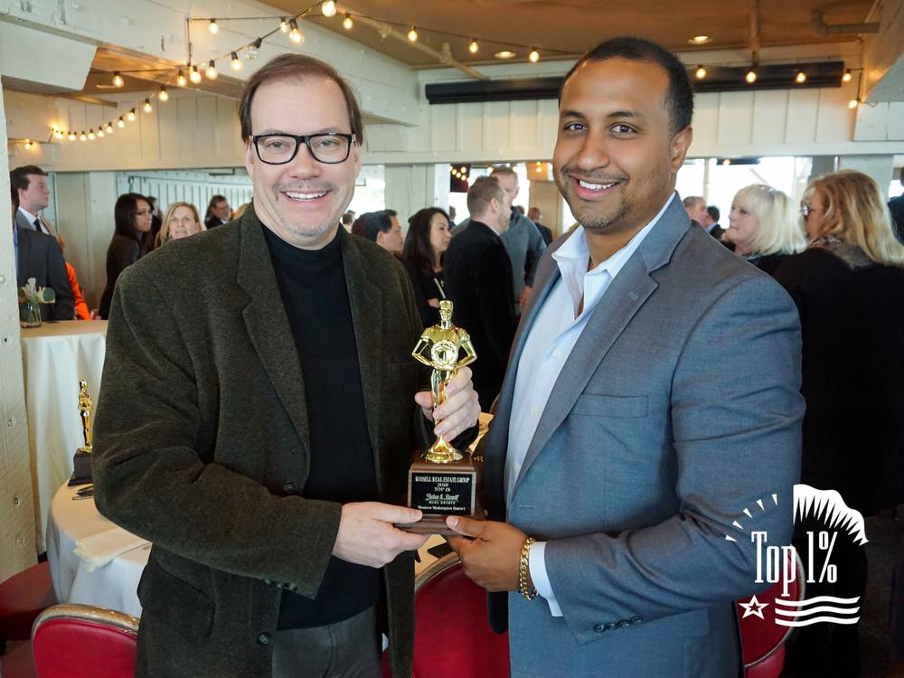 Kirk Russell & John L. Scott South Lake Union Managing Broker Jim Dierst - John L. Scott Real Estate 2018 Award Luncheon