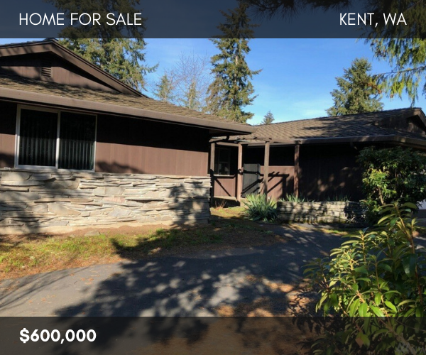 Kent Washington Fixer Upper Home For Sale
